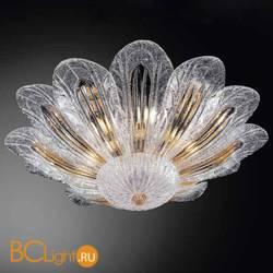 Настенно-потолочный светильник Vetri Lamp 954/70 Cristallo/Ambra