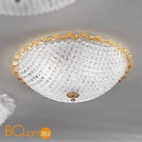 Потолочная лампа Vetri Lamp 991/50 Cristallo/Ambra