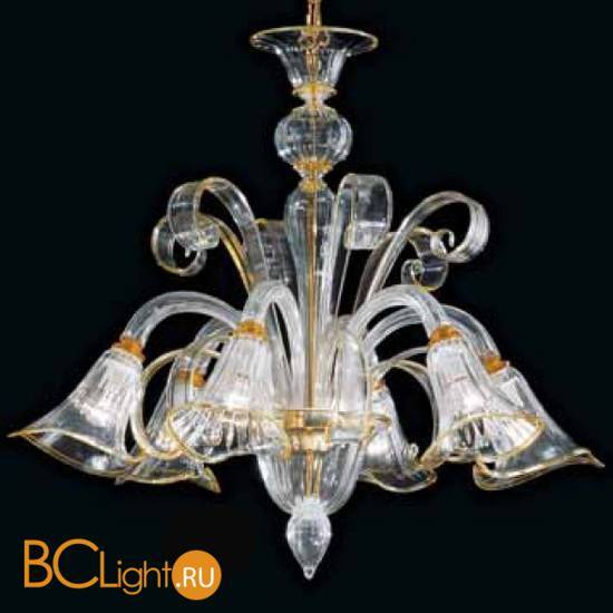 Люстра Vetri Lamp 992/6 Cristallo/Ambra