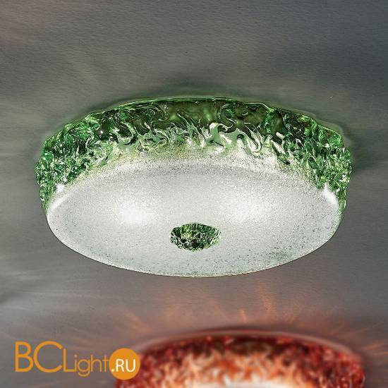 Потолочная лампа Vetri Lamp 999/40 Verde/Cristallo