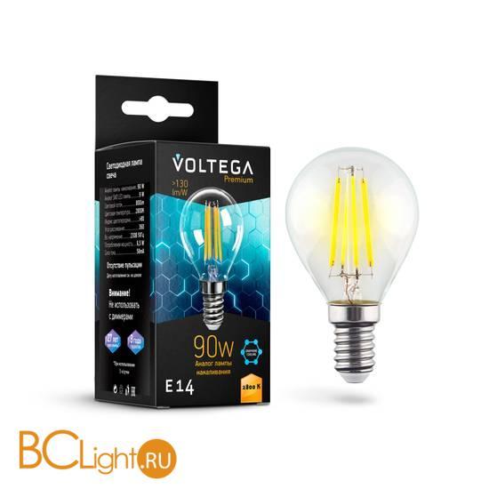 Лампа Voltega E14 Globe LED 6.5W Graphene 800Lm 2800K VG10-G45E14cold9W-F 7136