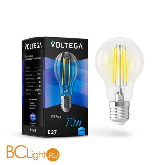 Лампа Voltega E27 LED 7W 720Lm 4000K VG10-A60E27cold7W-F 7141