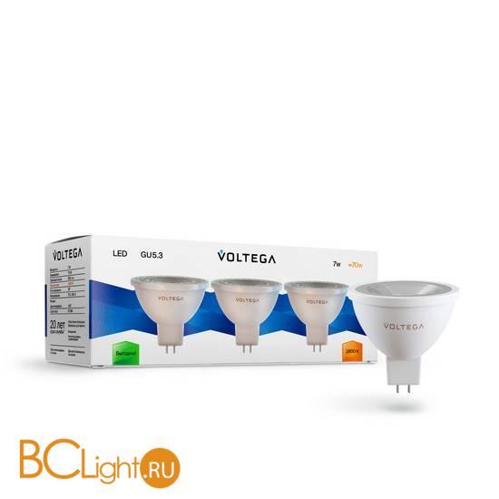 Комплект из 3-х ламп Voltega 7178 GU5.3 7W 2800K 580Lm