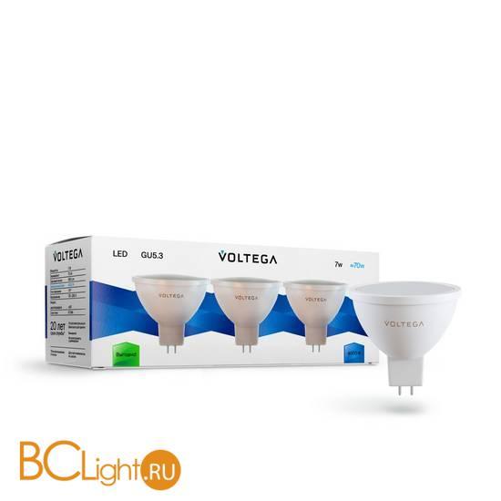 Комплект из 3-х ламп Voltega 7175 GU5.3 7W 4000K 600Lm