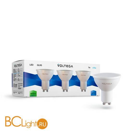 Комплект из 3-х ламп Voltega 7173 GU10 7W 4000K 580Lm